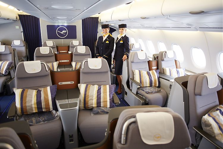 lufthansa erster a380 mit neuer business class news tma travel management austria. Black Bedroom Furniture Sets. Home Design Ideas