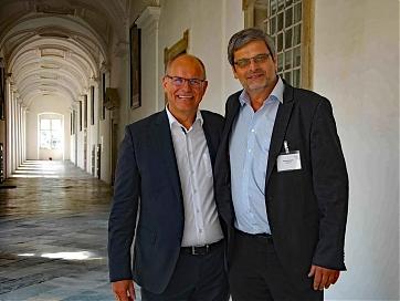 Foto: abta   Albert James Küng (Head of Global Travel Management der Siemens AG) und abta-Präsident Andreas Gruber