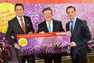 Finanz- und Wirtschaftsstadtrat Peter Hanke, Bürgermeister Michael Ludwig und Kurt Gollowitzer (Wien Holding) - Foto: C. Jobst / PID